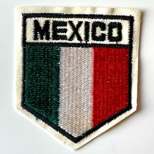 Vintage MEXICO Embroidered Flag Sew On Patch NOS